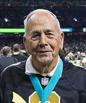 Jim Boulet, Peoples Health Champion, receives hiw award in the superdome.